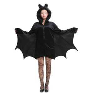 Halloween Costume Children and Women Bat Vampire Clothing Stage Performance Cosplay Clothing, Size:XXL, Bust: 102cm, Clothes Long: 79cm, Suggested Height:168-175cm