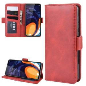 For Samsung Galaxy A60 Dual-side Magnetic Buckle Horizontal Flip Leather Case with Holder & Card Slots & Wallet & Photo Frame(Red)