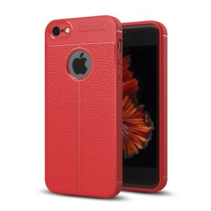 For iPhone 5 & 5s & SE TPU Shockproof Protective Back Cover Case (Red)