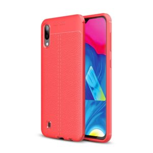 Litchi Texture TPU Shockproof Case for Galaxy M10(Red)