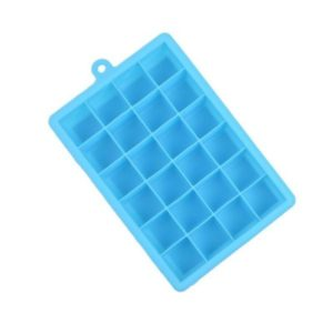 24 Grids Silicone Ice Cube Tray Molds Square Shape Ice Cube Maker Fruit Popsicle Ice Cream Mold(Sky blue)