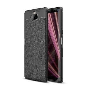 Litchi Texture TPU Shockproof Case for Sony Xperia 10(Black)