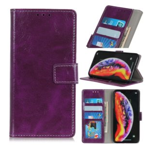 Retro Crazy Horse Texture Horizontal Flip Leather Case for Galaxy S10 5G, with Holder & Card Slots & Photo Frame & Wallet (Purple)