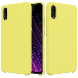 Solid Color Liquid Silicone Dropproof Protective Case for VIVO X23 (Yellow)