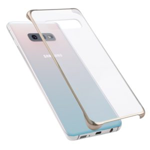 Ultra-thin Transparent Plating PC Protestive Back Case for Galaxy S10e (Gold)