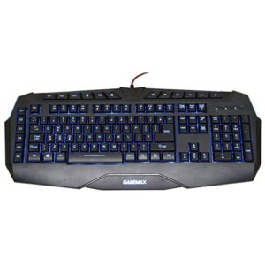 GAMEMAX HURRICANE MULTIMEDIA WIRED EXTREME GAMING KEYBOARD ILLUMINATED LED RED BLUE PURPLE BLACK USB ENGLISH ΠΛΗΚΤΡΟΛΟΓΙΟ ΕΝΣΥΡΜΑΤΟ GMK-HURRICANE