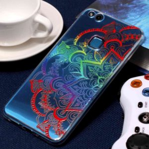 For Huawei P10 Lite Embossment Colorful Mandala Pattern Soft TPU Protective Case