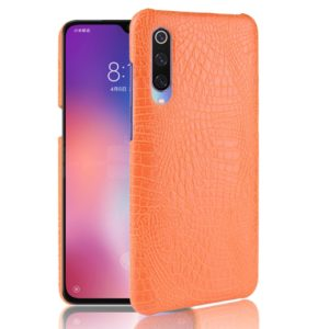 Shockproof Crocodile Texture PC + PU Case for Xiaomi Mi 9 (Yellow)