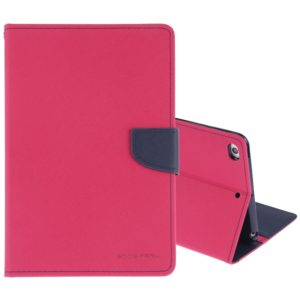 GOOSPERY FANCY DIARY Horizontal Flip Leather Case for iPad Mini (2019), with Holder & Card Slots & Wallet (Magenta) (GOOSPERY)