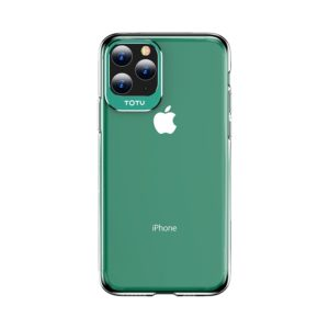 For iPhone 11 Pro Max TOTUDESIGN Clear Crystal Series Metal + PC Protective Case(Green) (TOTUDESIGN)