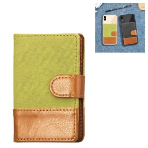 Mobile Phone Universal Denim Stitching Card Slot & Wallet & Holder & Photo Frame (Green)