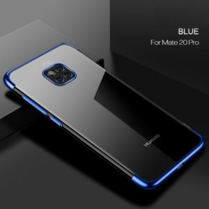 CAFELE Ultra-thin Electroplating Soft TPU Case for Huawei Mate 20 Pro (Blue) (CAFELE)