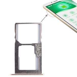 SIM Card Tray + Micro SD Card Tray for Asus Zenfone 3 Max ZC553KL (Gold)