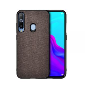 Shockproof Cloth Texture PC+ TPU Protective Case for Galaxy A70(Coffee)