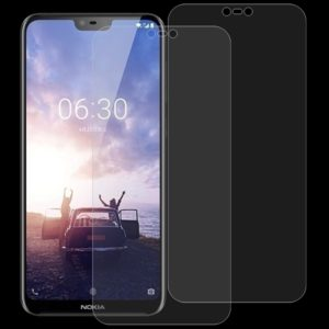 2 PCS 0.26mm 9H 2.5D Tempered Glass Film for Nokia X6