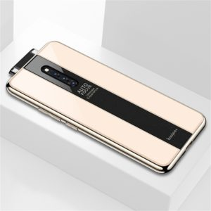 Electroplated Mirror Glass Protective Case for Vivo X27 Pro (Gold)