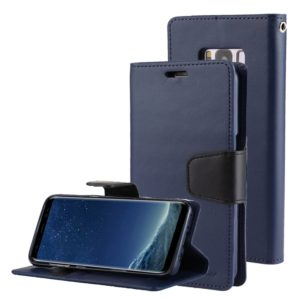 GOOSPERY SONATA DIARY Series for Galaxy S8 + / G955 Simulation Skin Horizontal Flip Leather Case with Holder & Card Slots & Wallet(Navy Blue) (GOOSPERY)