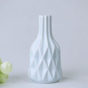 Creative Irregular Ceramic Vases Home Decor Small Flower Vase for Living Room Tabletop Ornaments Crafts, Size:Small(Blue 03)