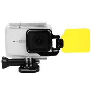 For Xiaomi Xiaoyi Yi II 4K Sport Action Camera Proffesional Foldable Waterproof Colorized Lens Filter with Hexangular Spanner(Yellow)