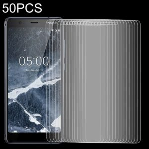 50 PCS 9H 2.5D Tempered Glass Film for Nokia 5.1