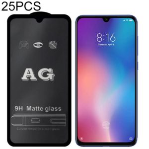 25 PCS AG Matte Frosted Full Cover Tempered Glass For Xiaomi Redmi Note 7