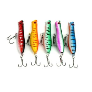 HENGJIA Artificial Fishing Lures Popper Bionic Fishing Bait with Hooks, Length: 6 cm, Random Color Delivery (HENGJIA)