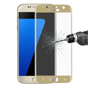 ENKAY Hat-Prince for Galaxy S7 / G930 0.26mm 9H Surface Hardness 3D Explosion-proof Full Screen Tempered Glass Screen Film(Gold) (ENKAY)