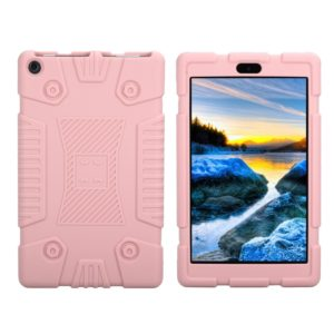 Full Coverage Silicone Shockproof Case for Amazon Kindle Fire HD 8 (2017)(Rose Gold)