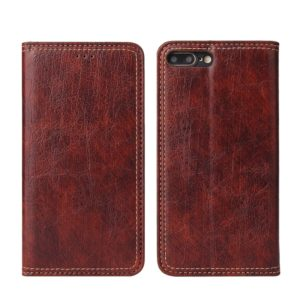 For iPhone 7 / 8 Retro Tree Bark Texture PU Magnetic Horizontal Flip Leather Case with Holder & Card Slots & Wallet(Brown)