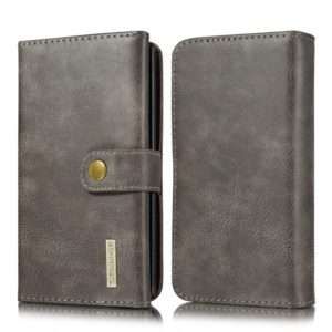 For Galaxy Note 10 DG.MING Triple Fold Crazy Horse Texture Magnetic Horizontal Flip Leather Case with Holder & Card Slots & Wallet(Grey) (DG.MING)