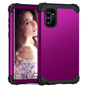 PC+ Silicone Three-piece Anti-drop Protection Case for Galaxy Note10+(Dark purple)
