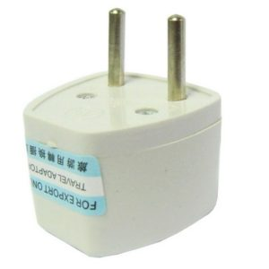 Plug Adapter, Travel Power Adaptor with Europe Socket Plug(White)