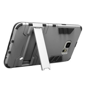 For Galaxy S6 edge+ / G928 TPU + PC Combination Case with Holder(Grey)