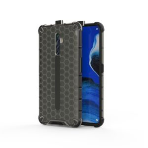 For Oppo Reno2 Z Shockproof Honeycomb PC + TPU Case(Grey)