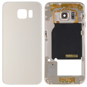 Full Housing Cover (Back Plate Housing Camera Lens Panel + Battery Back Cover ) for Galaxy S6 Edge / G925(Gold)