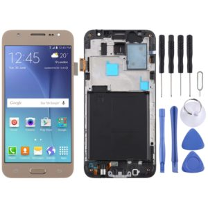 TFT Material LCD Screen and Digitizer Full Assembly with Frame for Galaxy J5 (2015) / J500F(Gold)