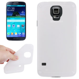 Anti-scratch Silicon Case for Galaxy S5 / G900(White)