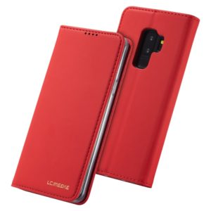 For Galaxy S9+ LC.IMEEKE LC-002 Series Skin Hand Feeling PU + TPU Horizontal Flip Leather Case with Holder & Card Slot & Wallet(Red) (LC.IMEEKE)