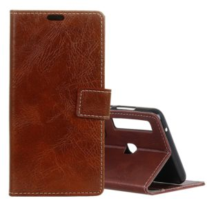 Retro Crazy Horse Texture Horizontal Flip Leather Case for Galaxy A9 (2018) / A9s, with Card Slots & Holder & Photo Frame (Brown)