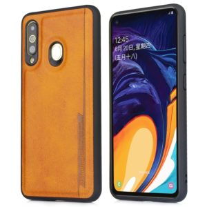 For Galaxy A60 Diaobaolee Shockproof PU + TPU Protective Case(Yellow) (Diaobaolee)