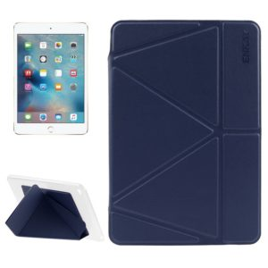 ENKAY Transformers Style Horizontal Flip Smart Leather Case with Holder and Sleep / Wake-up Function for iPad Mini 4(Dark Blue) (ENKAY)