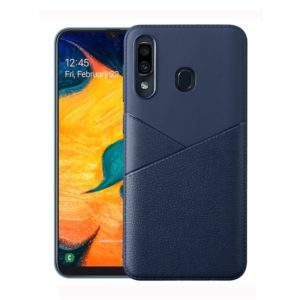 Ultra-thin Shockproof Soft TPU + Leather Case for Huawei P20 Lite (Blue)