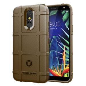 Shockproof Rugged Shield Full Coverage Protective Silicone Case for LG K40 (Brown)
