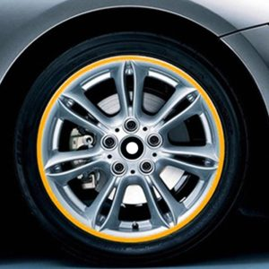 15 inch Wheel Hub Reflective Sticker for Luxury Car(Yellow)