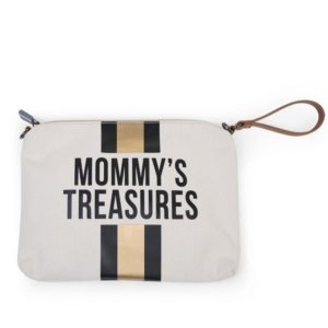 Childhome Νεσεσέρ Mommy Treasures Off White Stripes Black/Gold