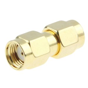 Gold Plated SMA Male to RP-SMA Male Adapter(Gold)
