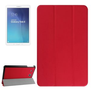 Karst Texture Horizontal Flip Leather Case with 3-folding Holder for Galaxy Tab E 9.6(Red)
