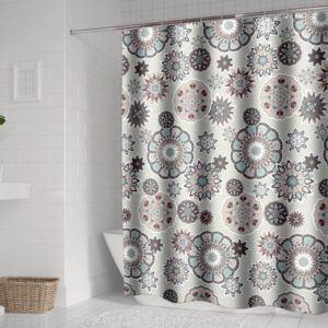 Bohemian Mandala Shower Curtains Bathroom Geometric Waterproof Bath Curtain, Size:120x180cm