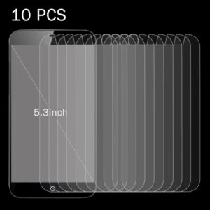 10 PCS 5.3 inch Mobile Phones 0.26mm 9H Surface Hardness 2.5D Explosion-proof Tempered Glass Screen Film