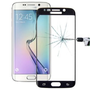 0.3mm 9H Surface Hardness 3D Curved Surface Full Screen Cover Explosion-proof Tempered Glass Film for Galaxy S6 edge(Black)